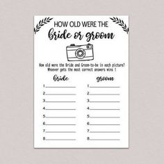 Bridal Shower Question Game, Bridal Shower Questions, Wedding Shower Games, Lingerie Shower Gift, Newlywed Game Questions, Sister Wedding Speeches, Wishes For The Bride, Bridal Shower Rustic, Bridal Showers