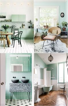 Discover recipes, home ideas, style inspiration and other ideas to try. Architecture Design, Mint Decor, Anthropologie Home, Interior Decorating, Interior Design, Kitchen Units, Decoration, Color Trends, New Homes