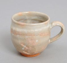 "JAPANESE POTTERY: Tsuchiwa Gama Medium Mug, ""Gohonte"" Spots"