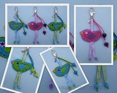 cute crochet birdies