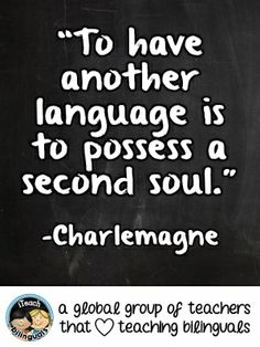 Teacher Quote: Second Language Learning #KidsLanguages #Bilingual
