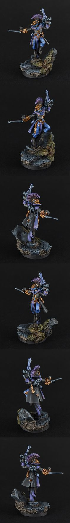Harlequin - very nice subtle blue patterning with gold accents and black base