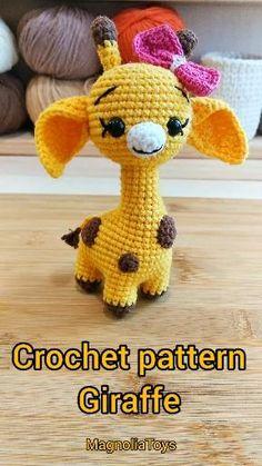 Minion Crochet Patterns, Crochet Giraffe Pattern, Crochet Octopus, Amigurumi Patterns, Knitting Patterns, Cat Amigurumi, Cute Crochet, Crochet Baby, Stuffed Animal Patterns