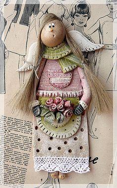 Gold Standard Porcelain China Value Salt Dough Projects, Salt Dough Crafts, Salt Dough Ornaments, Clay Projects, Clay Crafts, Diy And Crafts, Clay Angel, Crochet Angels, Angel Crafts