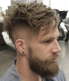 @beardorgin Beard & Long Top Short Sides Hairstyle