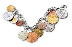 Coin+Bracelets+to+Make | This is a fun coin bracelet that would sure make a great conversation ...