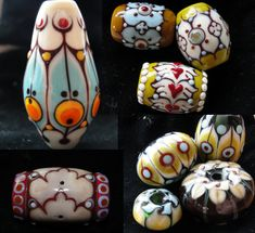 my little collection of lampwork beads made by Terri Caspary