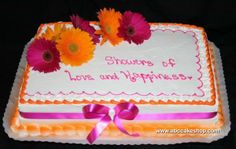 pink and orange bridal shower cakes | Wedding Cakes, Cupcakes, Cookies, Cakes - ABC Cake Shop & Bakery ...