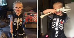 Mother Creates Halloween Costumes For Her 3-Year-Old Who Had Her Arm Amputated Because Of Cancer