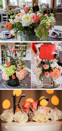 Grey and Coral Wedding | pink and gray shabby chic wedding 4, real weddings ideas and trends