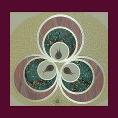 Ebru Art, Lotus Design, Turkish Art, Christmas Tree Decorations, Miniatures, Pattern, Crafts, Kunst, Manualidades