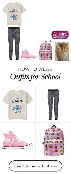 """School"" by iamcopyright on Polyvore featuring Uniqlo, Splendid and Converse"