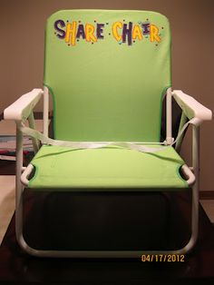 "Another ""Share Chair""  that can be folded up & tucked away if space is an issue. Directions for how she did @ the link"