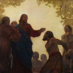 J. Kirk Richards - Sight Restored   #christian #art #christ