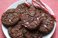 Candy cane chocolate cookie recipe