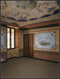 Salone chinese wall murals Ceiling Painting, Ceiling Murals, Wall Murals, Interior Paint, Interior Decorating, Painted Paneling Walls, Art Decor, Decoration, Faux Painting Techniques