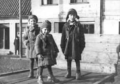 Memel, Lithuania, 1939, Children in the Jewish Quarter. Their young lives would come to a horrible and painful end. Very sad.