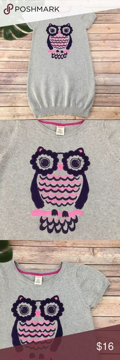 Gymboree girls sweater dress w/ Embroidered Owl Gymboree girls sweater dress with embroidered owl, size 12. It is free from any rips or stains. Gymboree Dresses Casual