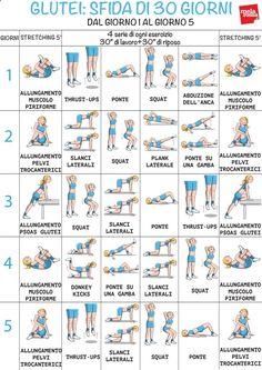 Programma di allenamento con esercizi per rassodare glutei in 30 giorni