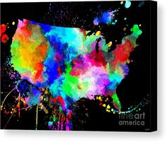 Usa Grunge Canvas Print featuring the mixed media Usa Grunge by Daniel Janda
