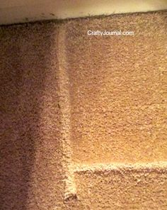 Wish I had known how to do this earlier! How to Remove Furniture Dents in Carpeting from Crafty Journal