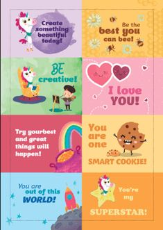 Free Printable Lunchbox Notes - Making of a Mom Lunchbox Notes For Kids, Kids Notes, Lunch Notes, Kids Lunch Bags, Lunch Ideas, School Lunch Box, School Notes, School Lunches, Summer Activities For Kids