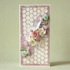 Handmade shabby chic card with many flowers - Pastellipäivä. Shabby Chic, Frame, Flowers, Cards, Handmade, Home Decor, Chic, Homemade Home Decor, Hand Made