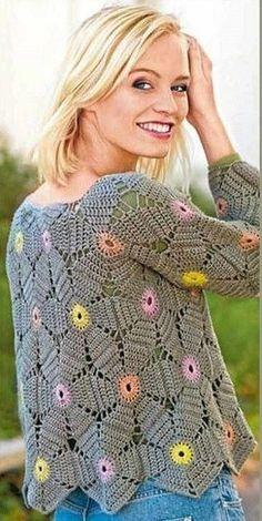 CROCHET PULLOVER. — Crochet by Yana