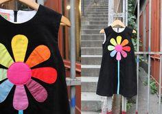 Robe marguerite multicolore pour grande fille : Mode filles par louise-et-valentin
