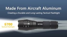 Tactical G700 Flashlight – Advanced New LED Light!
