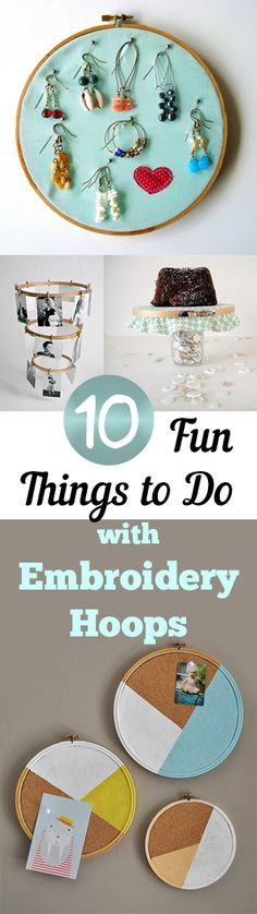10 Fun Things to DO with Embroidery Hoops.DIY, DIY clothing, sewing patterns, quick crafting, tutorials, DIY tutorials.