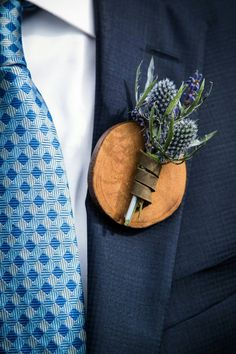 With a little creativity, anything can be a boutonniere.