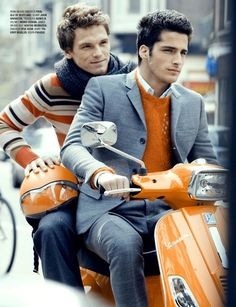Matching your man to your sweater to your scooter is only appropriate in a magazine.