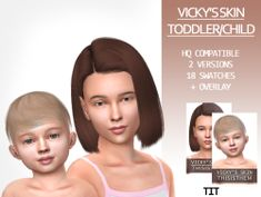 The Sims 4 Vicky's Skin (Toddler/Child) by thisisthem Sims 4 Mods Clothes, Sims 4 Clothing, Toddler Cc Sims 4, Sims Baby, Sims 4 Body Mods, The Sims 4 Skin, The Sims 4 Cabelos, Sims 4 Children, Sims 4 Cc Makeup