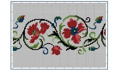 Moderne Stickerei-Vorlagen, Secession, Jugend-Styl, page 10. c. 1915. Art Nouveau cross-stitch, flowers.