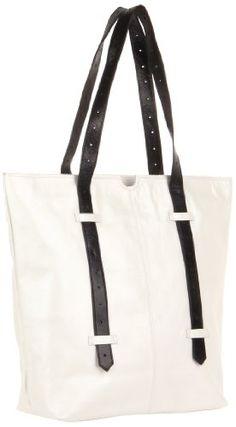 Latico Bobbie Tote,Metallic White/Black,One Size $173.25