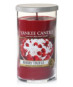 Loving this 12-Oz. Berry Trifle Perfect Pillar Candle on #zulily! #zulilyfinds