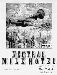 neutral milk hotel music gig posters