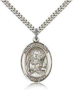 Thomas More Pendant with 18 Sterling Silver Lite Curb Chain Patron Saint of Lawyers//Statesmen Sterling Silver St