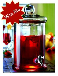 Weekly Giveaway:169-Ounce Glass Beverage Dispenser ~ $24.00 Value!