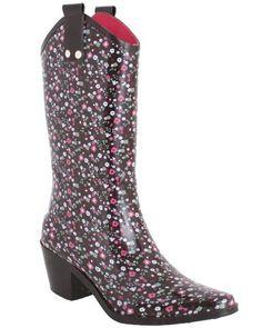 78deb5b3f5a4 Capelli New York Shiny Ditsy Floral Printed Ladies Rubber Rain Boot Capelli  New York.  24.99