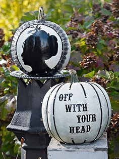 Off With Your Head -- book quotes and character pumpkins