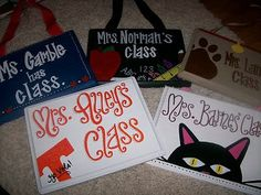 Name Plates for Teachers by TheWhimsicalWrenTN on Etsy, $15.00