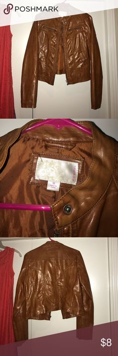 Target faux leather jacket Worn twice! In excellent condition!! Xhilaration Jackets & Coats Utility Jackets