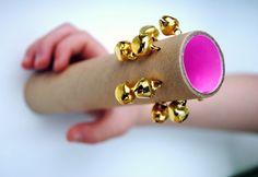 DIY: Cardboard hand bells Elsa, we can make these before going caroling!