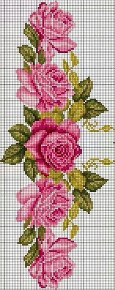 New Embroidery Rose Pattern Design Cross Stitch Ideas Cross Stitch Rose, Cross Stitch Borders, Cross Stitch Flowers, Cross Stitch Charts, Cross Stitch Designs, Cross Stitching, Cross Stitch Embroidery, Cross Stitch Patterns, Embroidery Flowers Pattern