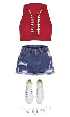 """""""Untitled #3889"""" by twerkinonmaz ❤ liked on Polyvore featuring Converse"""