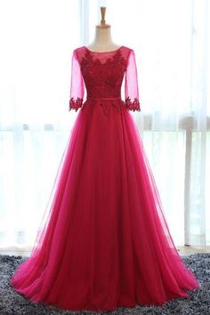 Real Picture,Prom Dresses,Long Prom Dress,Bridesmaid Dresses,Tulle,Scalloped,Evening Dresses,Women…