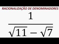 Curso de Matemática Racionalização de denominadores com números irracion... https://youtu.be/4jxZu0CWwjE