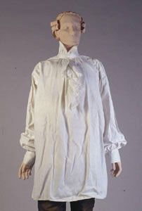 Do not know that this is English, oh well, aLady. Man's shirt - mid 1700s
